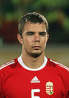Hungary's Andras Debreceni (5) stands on the field before the match against Italy during the FIFA Under 20 World Cup Quarter-final match at the Mubarak Stadium  in Suez, Egypt, on October 09, 2009. Hungary won 2-3 in overtime.