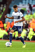 12th September 2017, Villa Park, Birmingham, England; EFL Championship football, Aston Villa versus Middlesbrough; Ashley Fletcher of Middlesbrough keeps control of the ball