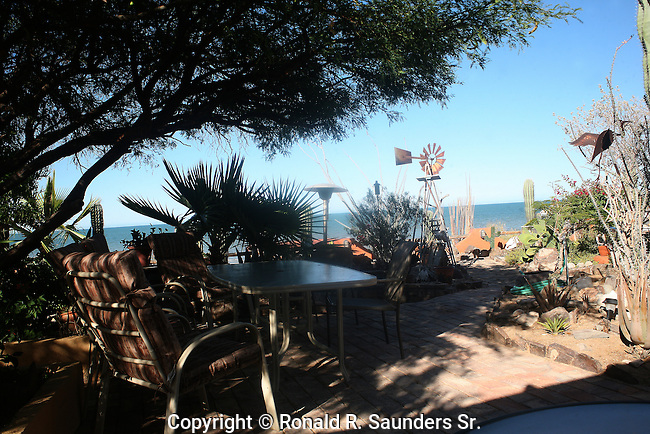 Trees, an outdoor platform and the Sea of Cortez provides a wonderful oasis in which to live