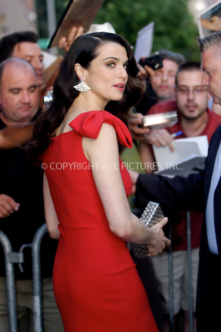WWW.ACEPIXS.COM . . . . .  ....July 27 2011, New York City....Actress Rachel Weisz made an appearance at the Jon Stewart show on July 27 2011 in New York City....Please byline: NANCY RIVERA- ACEPIXS.COM.... *** ***..Ace Pictures, Inc:  ..Tel: 646 769 0430..e-mail: info@acepixs.com..web: http://www.acepixs.com