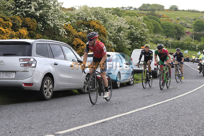 The 2nd breakaway group on the first Cat 3 climb Loughcrew during Stage 1 of the 2017 An Post Ras running 146.1km from Dublin Castle to Longford, Ireland. 21st May 2017.<br /> Picture: Eoin Clarke | Cyclefile<br /> <br /> <br /> All photos usage must carry mandatory copyright credit (&copy; Cyclefile | Eoin Clarke)
