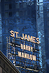 Theatre Marquee: Barry Manilow on stage at a Meet & Greet for 'Manilow On Broadway' at The St. James Theatre in New York City on 1/22/2013