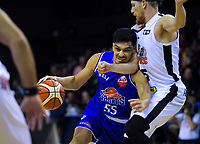 Shea Ili in action during the national basketball league match between Cigna Wellington Saints and Hawkes Bay Hawks at TSB Bank Arena in Wellington, New Zealand on Friday, 12 April 2019. Photo: Dave Lintott / lintottphoto.co.nz