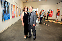 SANTA MONICA - JUN 25: Denise Weiss, Andrew Weiss at the David Bromley LA Women Art Exhibition opening reception at the Andrew Weiss Gallery on June 25, 2016 in Santa Monica, California