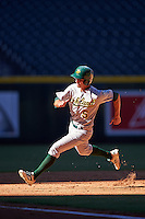 Oakland Athletics Eli White (5) during an Instructional League game against the Arizona Diamondbacks on October 15, 2016 at Chase Field in Phoenix, Arizona.  (Mike Janes/Four Seam Images)