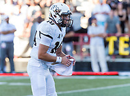College Park, MD - SEPT 23, 2017: UCF Knights quarterback McKenzie Milton (10) calls a play during game between Maryland and UCF at Capital One Field at Maryland Stadium in College Park, MD. (Photo by Phil Peters/Media Images International)