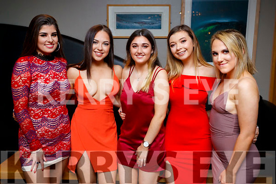 Hayley Donovan, Shannan Howe, Aisling Hogan, Shauna Daly and Trisha Burke, pictured at the St. Vincent De Paul Fashion Show, at Ballyroe Heights Hotel, Tralee, on Thursday, November 23rd last.