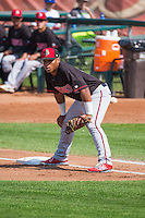 Kevin Franklin (48) of the Billings Mustangs on defense against the Ogden Raptors in Pioneer League action at Lindquist Field on August 16, 2015 in Ogden, Utah. Billings defeated Ogden 6-3.(Stephen Smith/Four Seam Images)