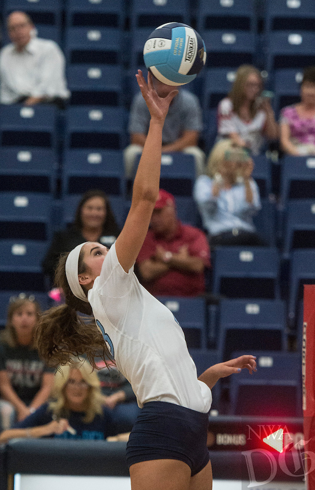 NWA Democrat-Gazette/ANTHONY REYES &bull; @NWATONYR<br /> Springdale Har-Ber against Webb City, Mo., Tuesday, Aug. 25, 2015 at Wildcat Arena in Springdale. The Wildcats won 3-0.