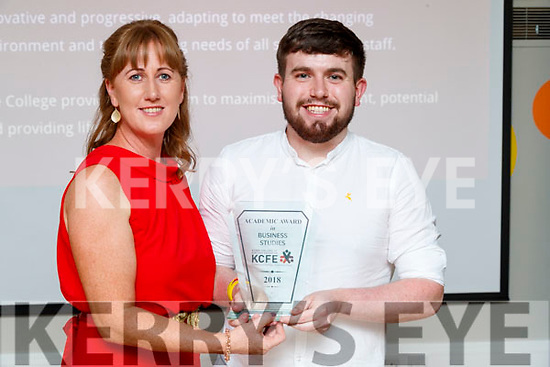 Pictured at the Kerry College of Further Education awards night on Thursday May 31st, were l-r: Mary Galvin pictured with Paddy O'Donnell who was awarded the academic award in Business Studies.