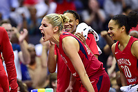 Washington, DC - May 27, 2018: Washington Mystics guard Elena Delle Donne (11) is fired up after the Mystics take the lead late in the second quarter during game between the Mystics and Lynx at the Capital One Arena in Washington, DC. (Photo by Phil Peters/Media Images International)