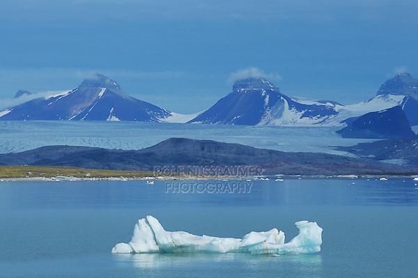Ice drifting in water, Svalbard, Spitsbergen, Norway, Arctic  .