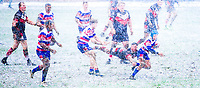 Picture by Alex Whitehead/SWpix.com - 17/03/2018 - Rugby League - Ladbrokes Challenge Cup: Round 4 - Normanton Knights v Rochdale Hornets - The LD Nutrition Stadium, Featherstone, England - Heavy snow during the game.