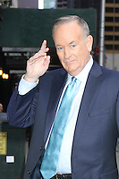 May 22, 2012 Bill O'Reilly at Late Show with David Letterman to talk about his new book Killing Lincoln in New York City. © RW/ MediaPunch Inc.