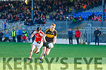 Johnny Buckley, Dr Crokes, races away from Brian Moynihan, Rathmore in the East Kerry Semi final in Fitzgerald stadium, Killarney last Sunday afternoon.
