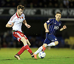 Sheffield United's Ben Whiteman in action during the League One match at Roots Hall Stadium.  Photo credit should read: David Klein/Sportimage