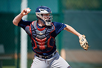 Atlanta Braves Alan Crowley (56) during practice before a minor league Spring Training game against the Pittsburgh Pirates on March 13, 2018 at Pirate City in Bradenton, Florida.  (Mike Janes/Four Seam Images)