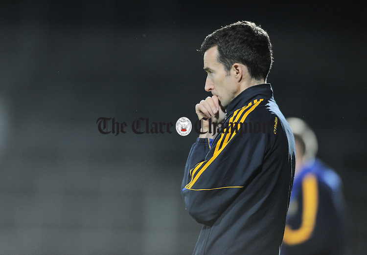 Clare mentor David O Connell on the sideline against Tipperary during their U-17 Munster League final in The Gaelic Grounds. Photograph by John Kelly.