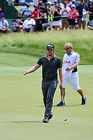 Eddie Pepperell (ENG) after sinking his putt on 6 during Sunday's round 4 of the 117th U.S. Open, at Erin Hills, Erin, Wisconsin. 6/18/2017.<br /> Picture: Golffile | Ken Murray<br /> <br /> <br /> All photo usage must carry mandatory copyright credit (&copy; Golffile | Ken Murray)