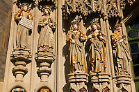 Statues at the entrance to the Munster (Cathedral of Bern), Bern, Canton Bern, Switzerland