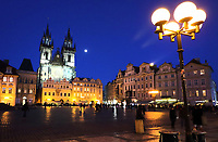 Old Town Square at night, Prague, Czech Republic on February 28th to March 3rd 2018<br /> CAP/ROS<br /> &copy;ROS/Capital Pictures