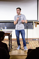 14th July 2019: Comedian Simon Brodkin performs on day 2 of the 2019 Comedy Crate Festival, Northampton.