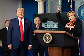 March 31, 2020 - Washington, DC, United States: White House Coronavirus Response Coordinator Ambassador Deborah Birx participates in a news briefing by members of the Coronavirus Task Force at the White House. <br /> Credit: Chris Kleponis / Pool via CNP