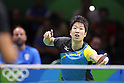 Jun Mizutani (JPN), <br /> AUGUST 7, 2016 - Table Tennis : <br /> Men's Singles Preliminary Round <br /> at Riocentro - Pavilion 3 <br /> during the Rio 2016 Olympic Games in Rio de Janeiro, Brazil. <br /> (Photo by Yusuke NakanishiAFLO SPORT)