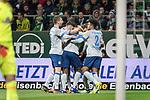 08.03.2019, Weser Stadion, Bremen, GER, 1.FBL, Werder Bremen vs FC Schalke 04, <br /> <br /> DFL REGULATIONS PROHIBIT ANY USE OF PHOTOGRAPHS AS IMAGE SEQUENCES AND/OR QUASI-VIDEO.<br /> <br />  im Bild<br /> jubel 0:1 Breel Embolo (FC Schalke 04 #36) #fcv22<br /> Guido Burgstaller (FC Schalke 04 #19) Weston McKennie (FC Schalke 04 #2)<br /> Jeffrey Bruma (FC Schalke 04 #27) Salif San&eacute; / Sane (FC Schalke 04 #28)<br /> <br /> <br /> Foto &copy; nordphoto / Kokenge