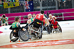 Australia defeats Belgium 58-43 in the wheelchair rugby pool match, London Paralympic Games, 7.9.12