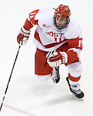 Zach Cohen (BU - 11) - The Boston University Terriers defeated the Merrimack College Warriors 6-4 on Saturday, November 14, 2009, at Agganis Arena in Boston, Massachusetts.