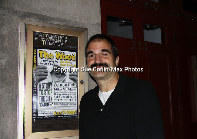 """One Life To Live John Viscardi stars as """"Mike McAlary"""" in The Wood at the Rattlestick Playwrights Theater, New York City, New York. The photo was taken on Septermber 15, 2011 on opening night. John as """"Mike"""" in The Wood which is a """"heartfelt no-holds-barred look at """"Mike McAlary"""" larger than life columnist. His missionary zeal to ferret out the truth."""" (Photo by Sue Coflin/Max Photos)"""