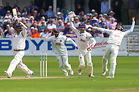 Delight for Essex as they claim the wicket of Jack Brooks from the bowling of Simon Harmer during Yorkshire CCC vs Essex CCC, Specsavers County Championship Division 1 Cricket at Scarborough CC, North Marine Road on 7th August 2017
