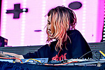 Artist MIJA perfoms on the Dos XX Rio Bravo Stage at the 2017 Neon Desert Muisc Festival, May 27, 2017 in El Paso Texas