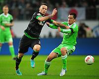 FUSSBALL   1. BUNDESLIGA    SAISON 2012/2013    13. Spieltag   VfL Wolfsburg - SV Werder Bremen                          24.11.2012 Marko Arnautovic (li, SV Werder Bremen) gegen Marcel Schaefer (re, VfL Wolfsburg)