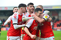 Fleetwood Town's Jason Holt celebrates scoring his side's first goal <br /> <br /> Photographer Richard Martin-Roberts/CameraSport<br /> <br /> The EFL Sky Bet League One - Fleetwood Town v Plymouth Argyle - Saturday 16th March 2019 - Highbury Stadium - Fleetwood<br /> <br /> World Copyright © 2019 CameraSport. All rights reserved. 43 Linden Ave. Countesthorpe. Leicester. England. LE8 5PG - Tel: +44 (0) 116 277 4147 - admin@camerasport.com - www.camerasport.com