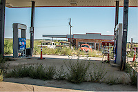 Abandoned gas station in McLean Texas on Route 66