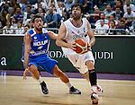 Kosarka-Basketball<br /> Srbija v Grcka-Prijateljski Mec<br /> Milos Teodosic (R) and Giannis Athinaiou<br /> Beograd, 28.06.2016.<br /> foto: Srdjan Stevanovic/Starsportphoto &copy;