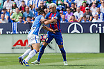 FC Barcelona's Neymar Santos Jr and Club Deportivo Leganes's Unai Bustinza  during the match of La Liga between Club Deportivo Leganes and Futbol Club Barcelona at Butarque Estadium in Leganes. September 17, 2016. (ALTERPHOTOS/Rodrigo Jimenez)