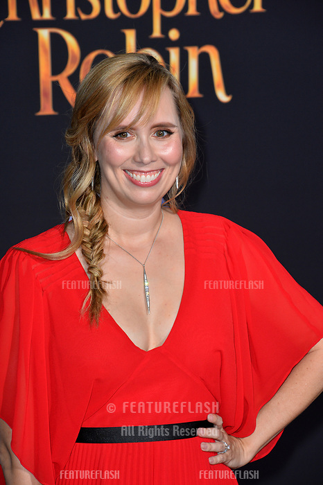 Allison Schroeder at the world premiere of Disney's &quot;Christopher Robin&quot; at Walt Disney Studios, Burbank, USA 30 July 2018<br /> Picture: Paul Smith/Featureflash/SilverHub 0208 004 5359 sales@silverhubmedia.com