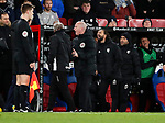 Crystal Palace's Ray Lewington argues with Watford's bench during the premier league match at Selhurst Park Stadium, London. Picture date 12th December 2017. Picture credit should read: David Klein/Sportimage