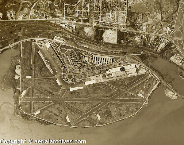 historical aerial photograph Washington National Airport DCA 1949