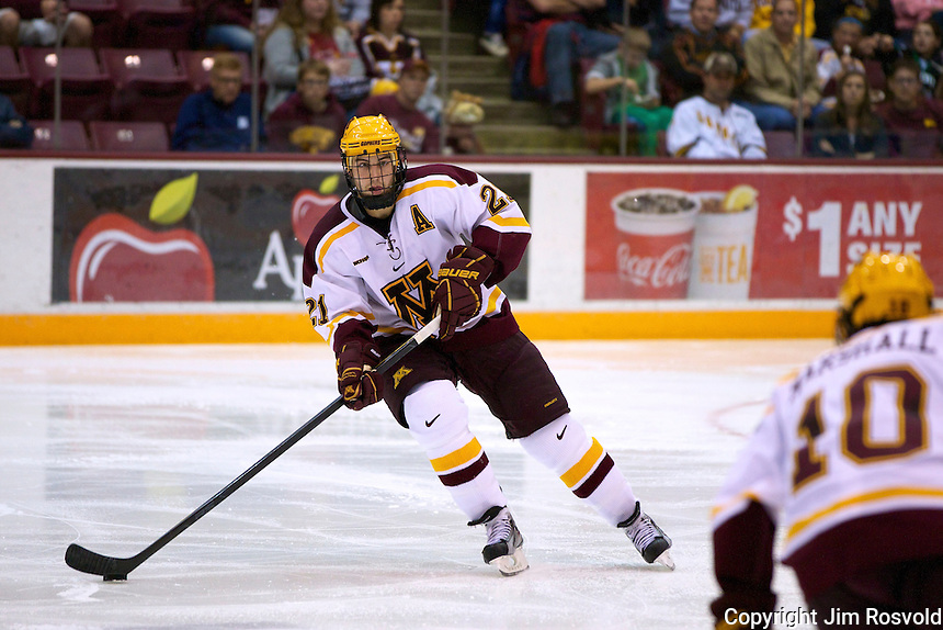 8 Oct 10:  Jake Hansen (Minnesota - 21) The University of Minnesota plays host to Sacred Heart in a non-conference matchup at Mariucci Arena in Minneapolis, MN.