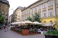 Restaurant scene in downtown Budapest Hungary