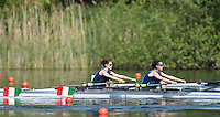 Lucerne, SWITZERLAND<br /> ITA LW2X. Bow. Laura MILANI and Elisabetta SANCASSANI.<br /> 2016 European Olympic Qualifying Regatta, Lake Rotsee.<br /> <br /> Sunday  22/05/2016<br /> <br /> [Mandatory Credit; Peter SPURRIER/Intersport-images]