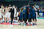 Baskonia celebrating the  win before Real Madrid vs Kirolbet Baskonia game of Liga Endesa. 19 January 2020. (Alterphotos/Francis Gonzalez)