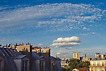 Paris, France, Left Bank, 6th Arrondissement, Europe, Rooftop view of Notre Dame, the Cluny, garrets, Boulevard Saint Michel, .