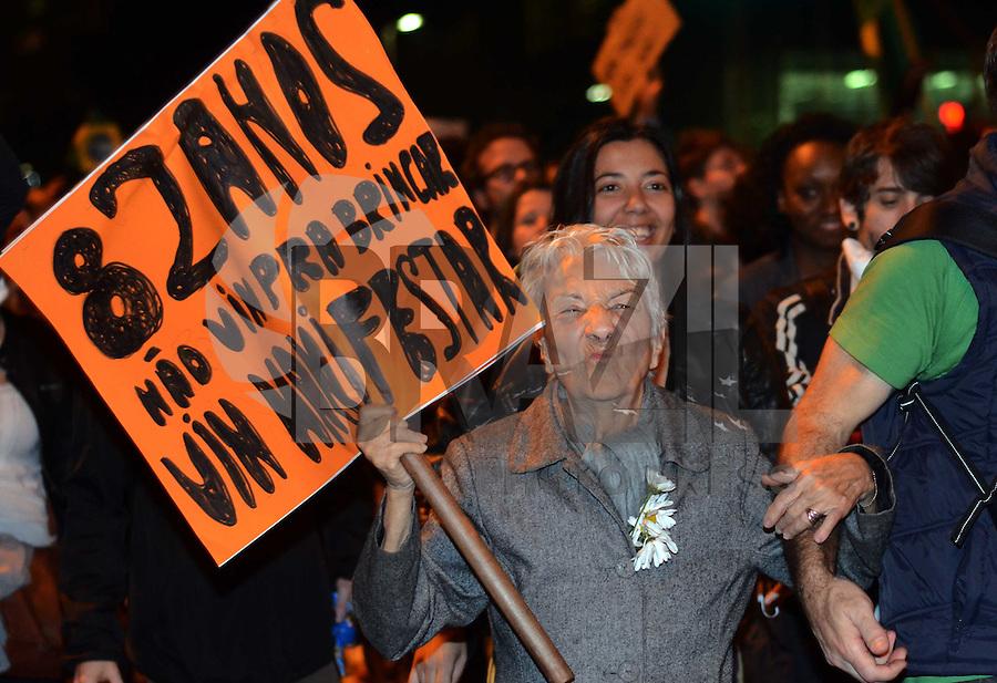 Sao Paulo SP 15 de junho  Manifestacao  contra aumento das passagens no Largo da Batata em Pinheiros  Sao Paulo   Foto Alan Morici / Brazil PhotoPress