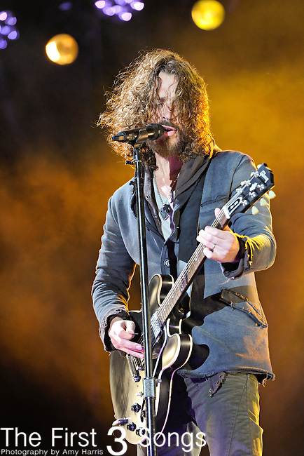 Chris Cornell of Soundgarden performs during Day 1 of the Voodoo Experience at City Park in New Orleans, Louisiana on October 28, 2011.