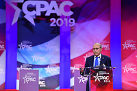 National Harbor, MD - February 28, 2019: White House Economic Council Director Larry Kudlow speaks during the annual Conservative Political Action Conference (CPAC) held at the Gaylord National Resort at National Harbor, MD February 28, 2019.  (Photo by Don Baxter/Media Images International)